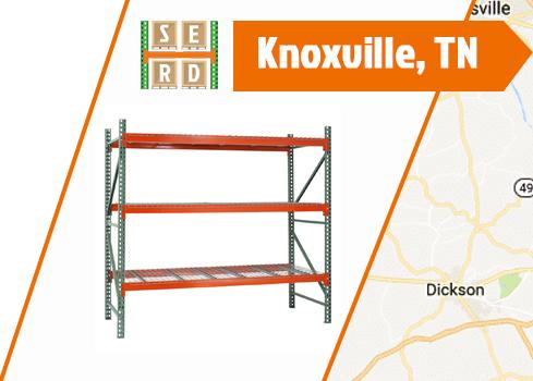empty-teardrop-pallet-rack-with-orange-beam