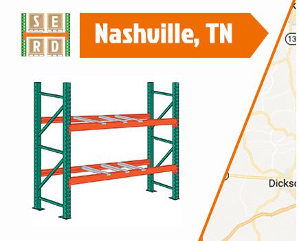 empty-pallet-rack-with-orange-beam