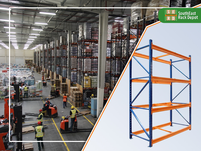 blue-and-orange-light-shelving-rack-and-workers-installing-pallet-racks-in-warehouse