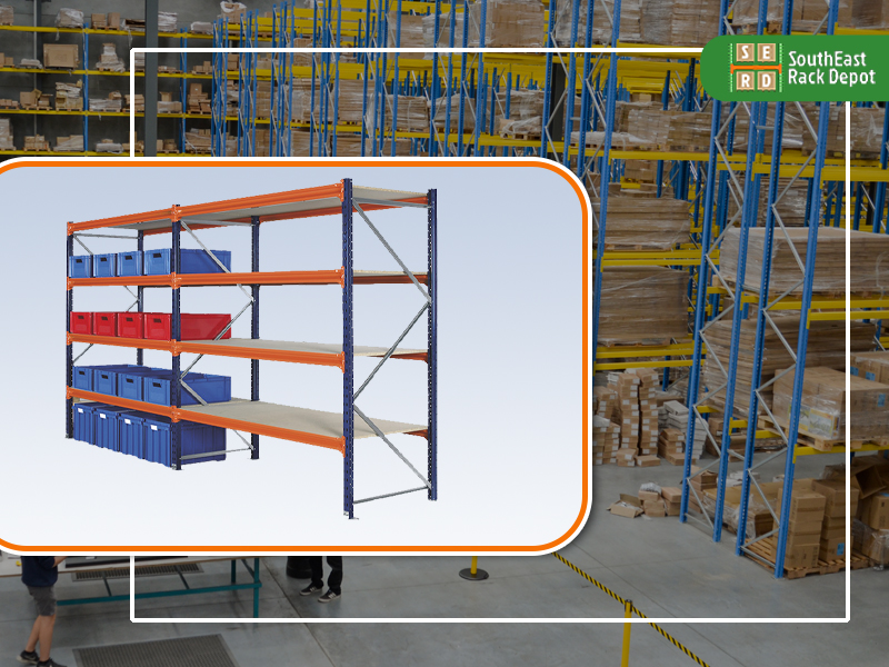 used-orange-and-blue-pallet-rack-with-red-and-blue-b0xes-stored-with-pallet-racks-in-background