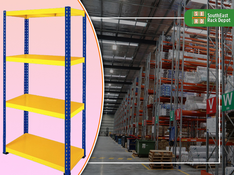 blue-and-yellow-tear-drop-rack-with-pallet-rack-in-a-warehouse